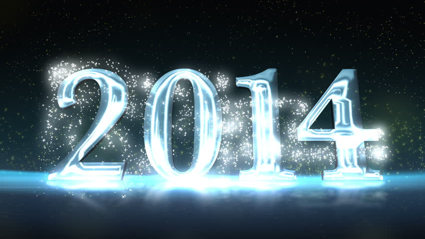 2014 New Year Celebration Background with the 3D numbers animating onto the screen | Shutterstock HD Video #5198030