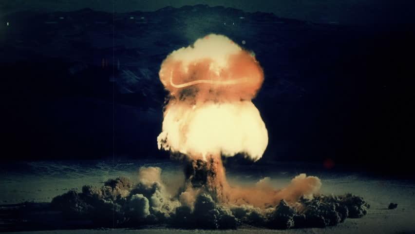Nuclear Detonation - Mushroom Cloud - FULL HD