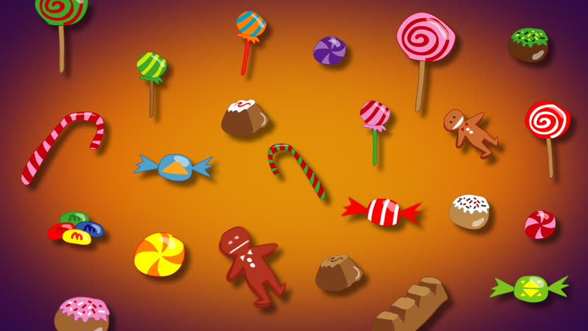 Stock Video Clip Of Jiggling Candy Wallpaper With Dark