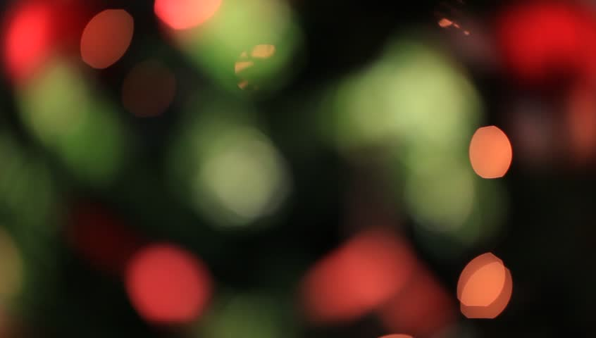 Christmas Lights Blur Background Stock Footage Video 5213537 ...