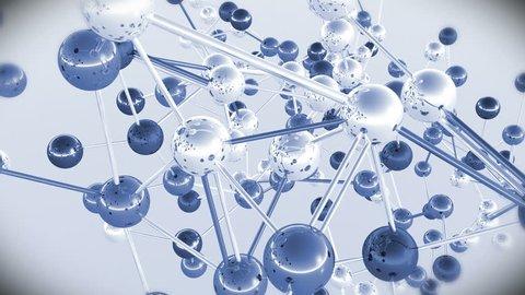 4K Complex Molecule Structure 4K UHD 3840 x 2160 ultra high definition