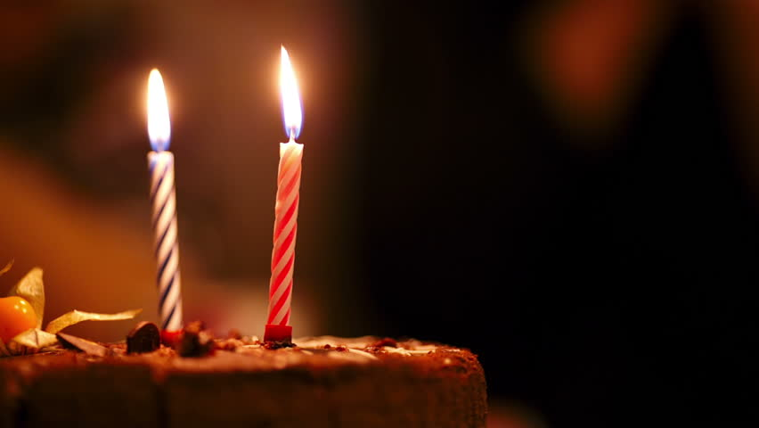 Animated Two Candles Burning Stock Footage Video 1902247