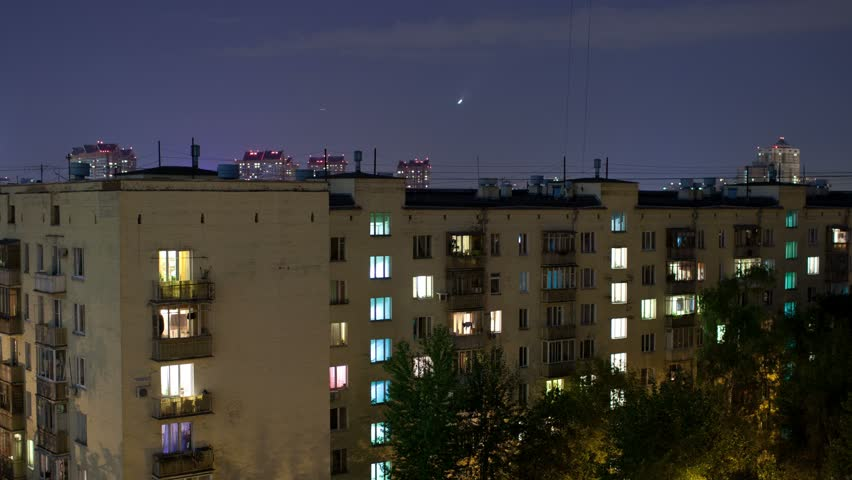 Apartment Building At Night apartment building stock footage video | shutterstock