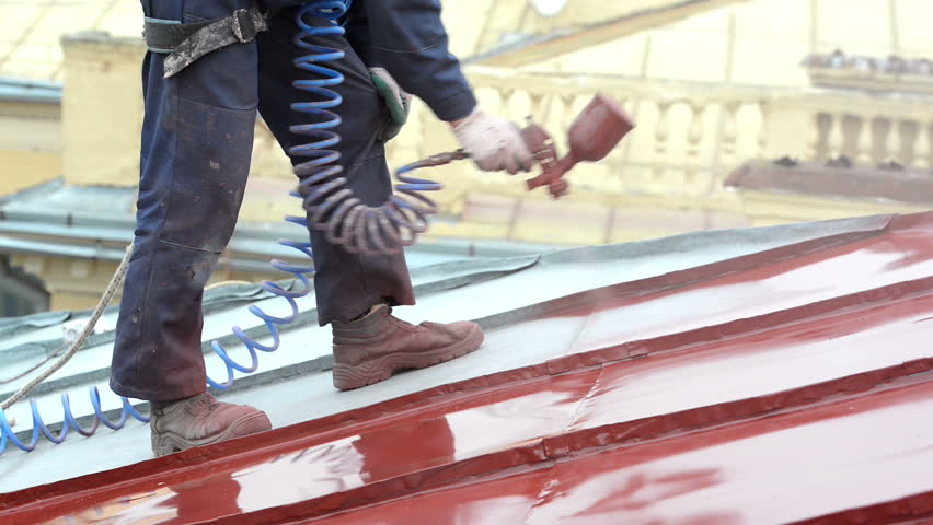 Roofer Builder Worker with Pulverizer Stock Footage Video (100%  Royalty-free) 5305910 | Shutterstock