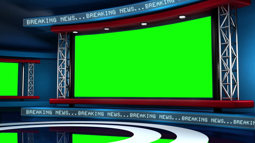 Virtual Set Background This news set is the perfect backdrop for any green screen or chroma key video production.  It features a  clean and modern layout with subtle animation and imagery.