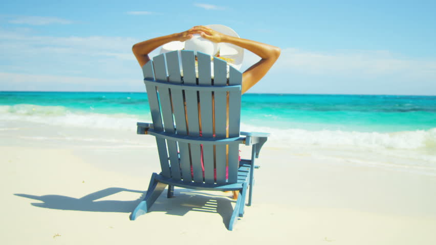 Beautiful Resting Beach Chair Stock Footage Video 100 Royalty Free 5357660 Shutterstock