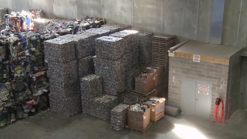 Compacted recyclables (1 of 5)