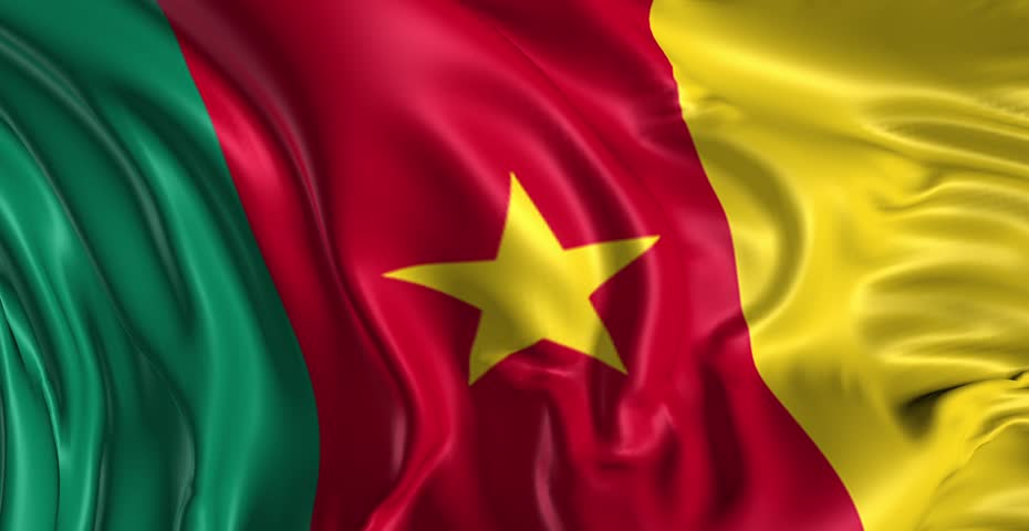 Cameroon Floating Flag