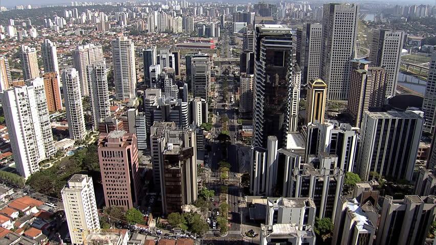 BRAZIL - SAO PAULO - AERIAL VIEW