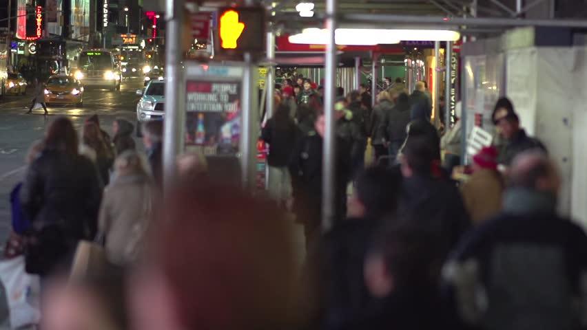 Walking in New York City slow motion (3 of 11) | Shutterstock HD Video #5382950