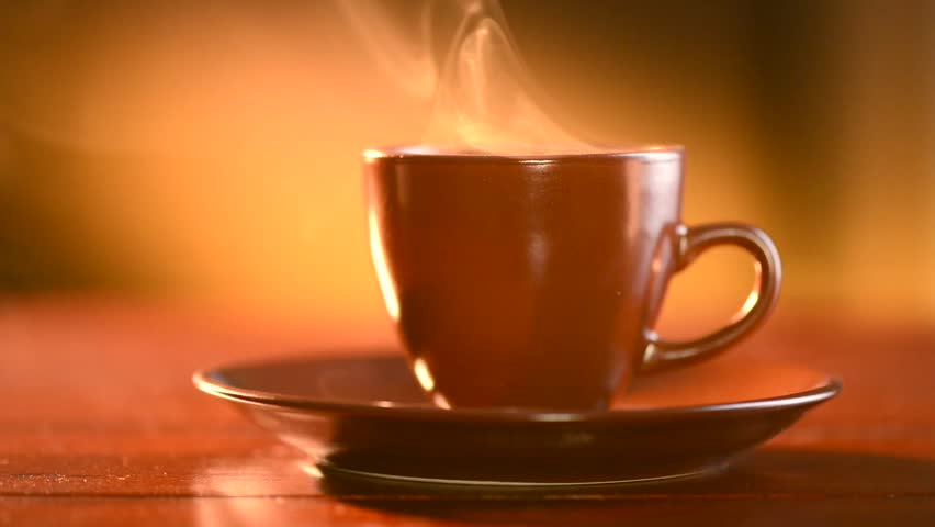 be166fcdfe0 Coffee. Cup of Hot Coffee Espresso. Coffee or Tea. Brown Cup of hot  beverage with Steam. HD video Footage