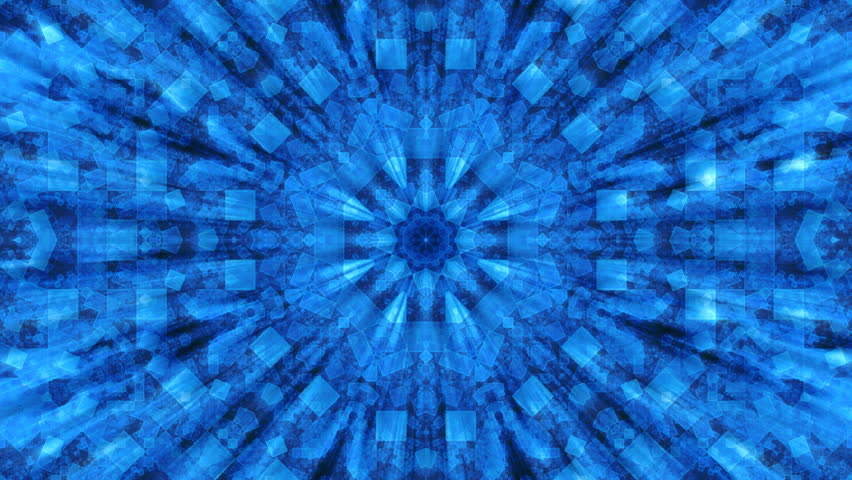 Large white, blue and black kaleidoscopic, star shaped background render, slowly morphing in seamless loop.  | Shutterstock HD Video #5446640
