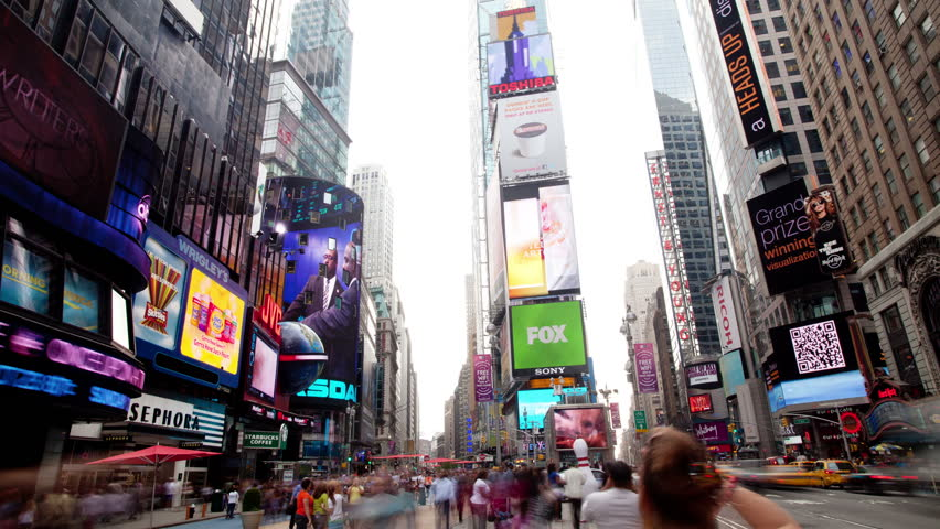 NEW YORK, NEW YORK - OCT 2011: timelapse in time square, new york, super high quality, 4k resolution (4096x2304).   Shutterstock HD Video #5452370