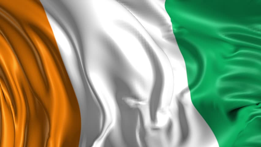 flag of ivory coast beautiful 3d animation of ivory cost flag in loop mode