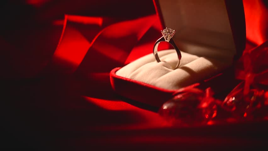 Diamond Ring Valentines Day Gift Stock Footage Video -3396