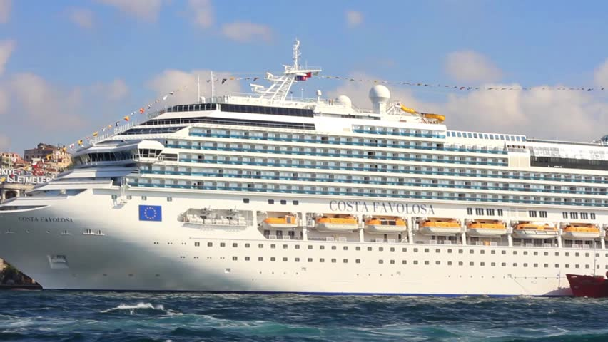 ISTANBUL JULY Passenger Ship COSTA FAVOLOSA Italy - How much do cruise ships cost to build