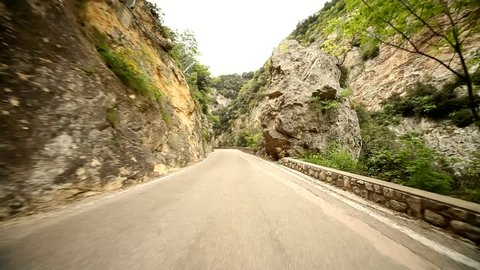 video footage of the road SP 38 at the lake garda in italy, europa