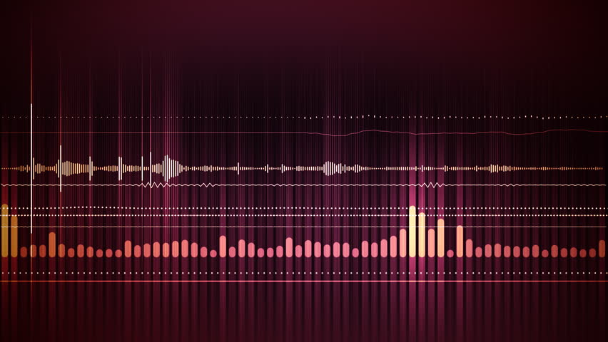 Animated background with audio elements