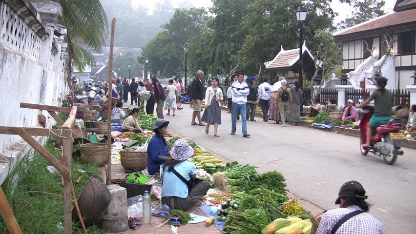 LUANG PRABANG, LAOS - NOV 1, 2007: Luang Prabang, Laos