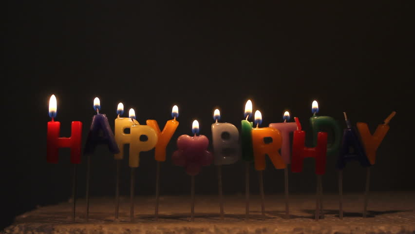 Happy Birthday Colored Candles Lights Stock Footage Video 100 Royalty Free 5600210