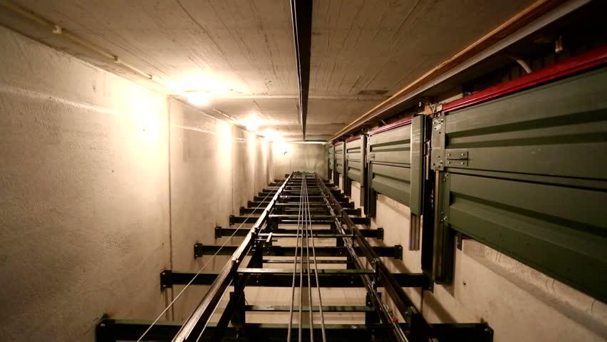 Elevator shaft top view