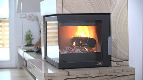 SLOW: Fireplace in House