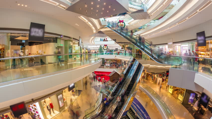 Hyperlapse video of a busy shopping mall | Shutterstock HD Video #5643716