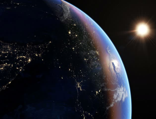 Asia at night 4K. Extremely detailed image, including elements furnished by NASA. 3d animation with some light sources, reflections and post-processing. Earth maps courtesy of NASA