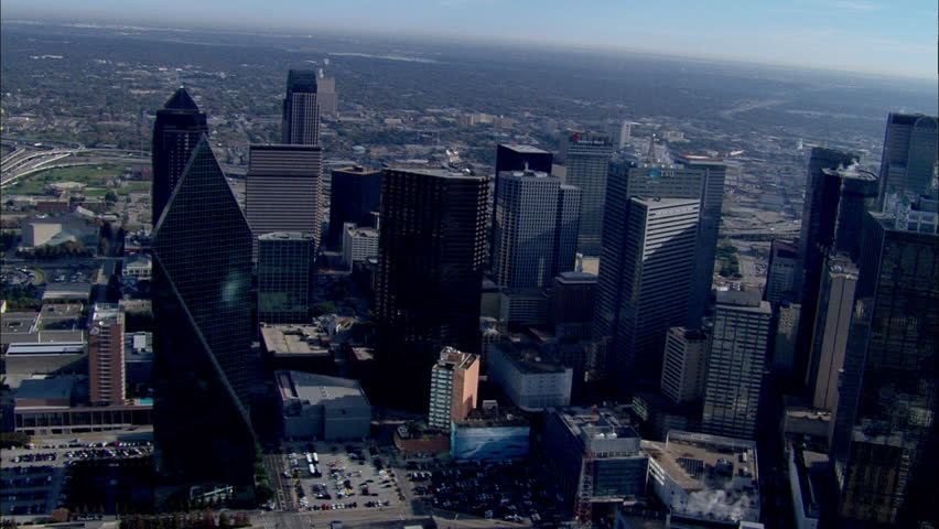 Dallas Skyline Morning. The morning view of the Dallas City skyline. | Shutterstock HD Video #5745356