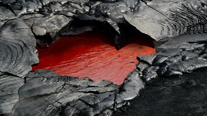 Molten rock (magma/lava) runs just below the surface of the earth.