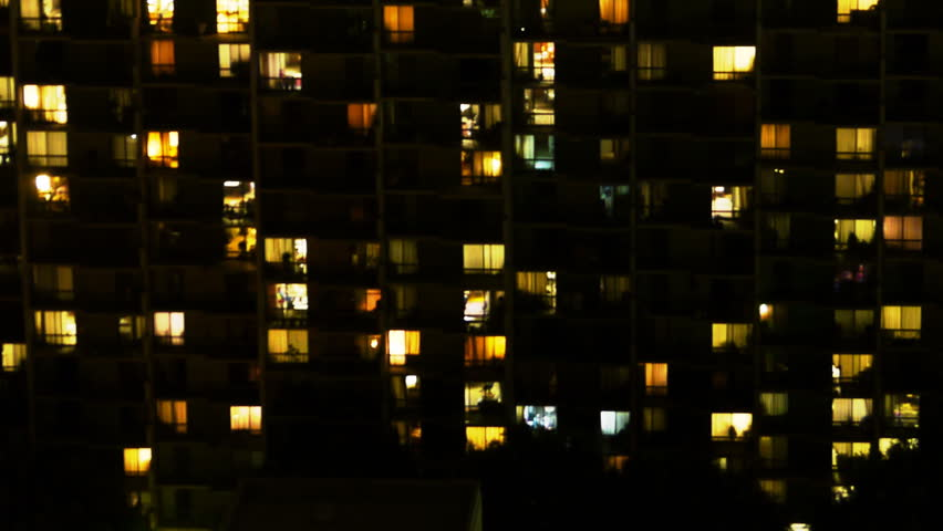 Time Lapse of Apartment Building at Night -Zoom Out- | Shutterstock HD Video #5759645