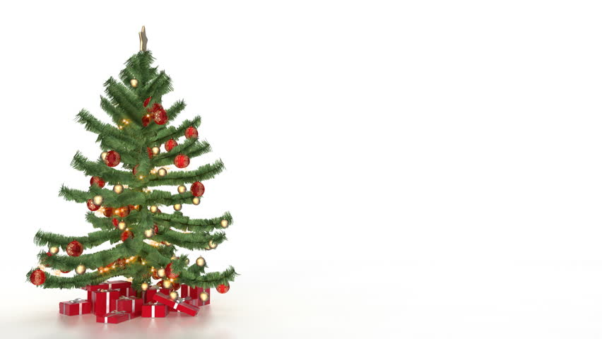 Christmas Tree with Gift On Stock Footage Video (100% Royalty,free) 577210
