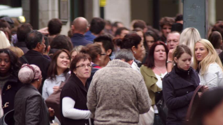 LONDON, UK - OCTOBER 8, 2011: Slow motion of Oxford Street.   Shutterstock HD Video #5788070