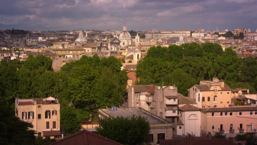 Panoramic shot of Rome skyline   Shutterstock HD Video #5810660