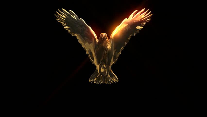 Golden Eagle flap wings