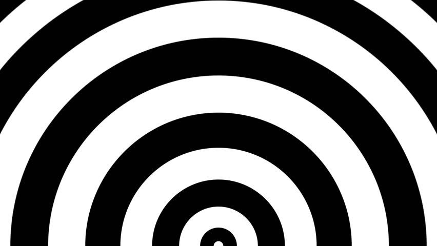 Seamless animation of concentric half circles. Great for keying or masking!