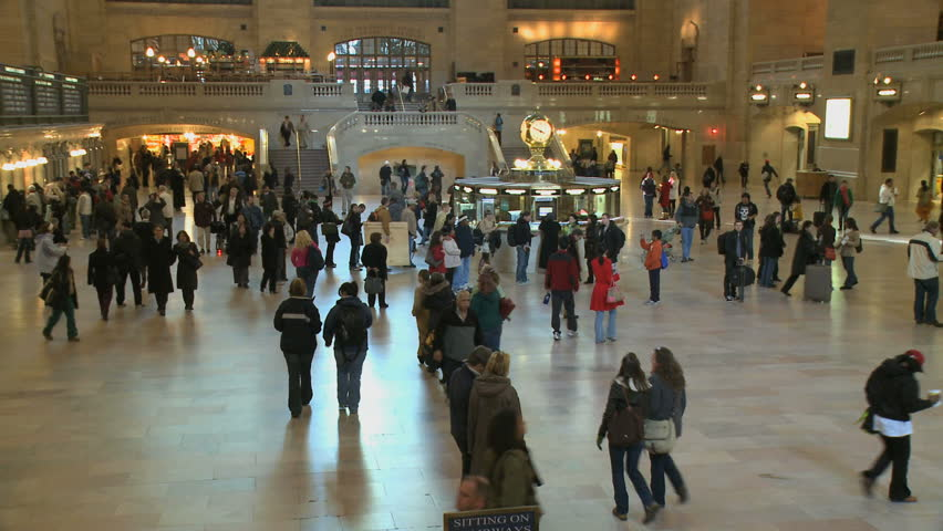NEW YORK CITY - NOVEMBER 7: Grand Central Station is a hub of activity as seen in this time lapse on November 7, 2009 in New York City.