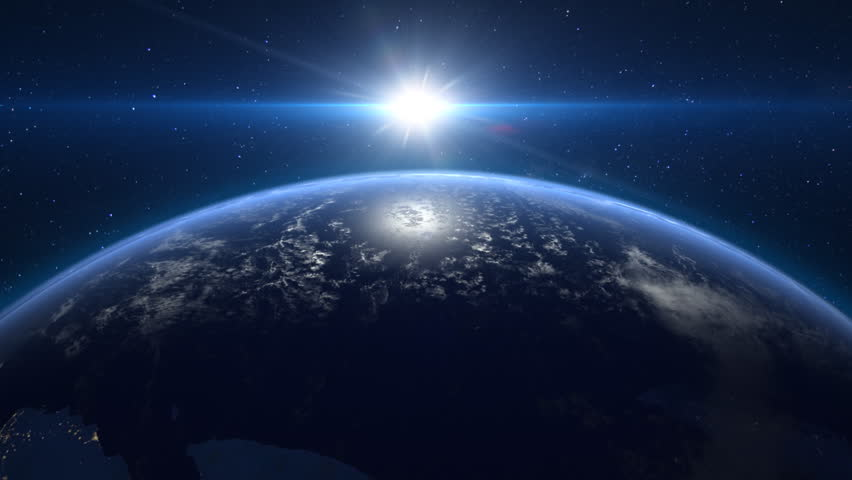 Sunrise over the planet earth stock footage video 7250509 - Earth hd images from space ...