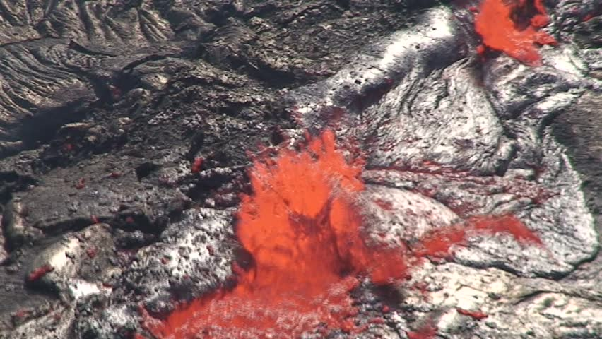 Degassinge eruption in the volcano Erta Ale  volcano crater