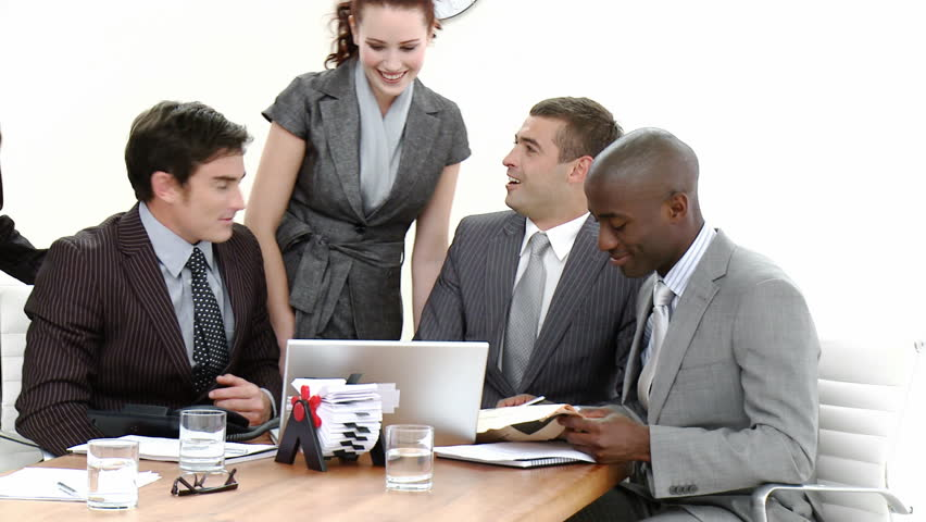 Young Business people in a busy office