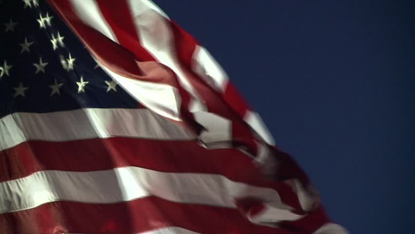 AMERICAN FLAG USA REAL TIME CLOSE UP WAVING IN WIND HIGH DEFINITION LONG CLIP STOCK VIDEO FOOTAGE HD 1920X1080