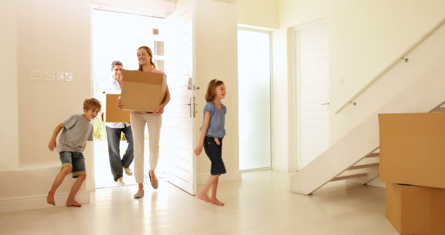 Happy Family Moving Into Their Stock Footage Video 100