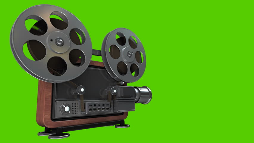 Cinema Projector Old Fashioned Isolated On Stock Footage Video 100 Royalty Free 5940080
