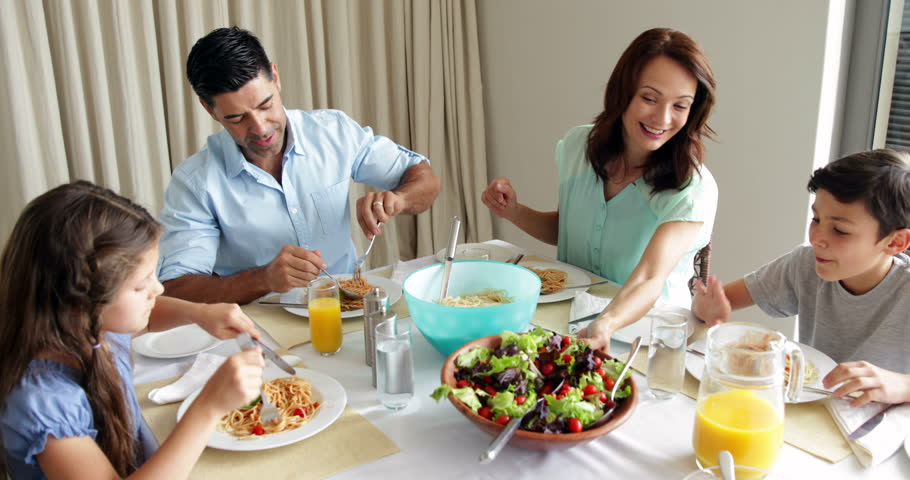 At Home In The Dining Room Stock Footage Video 5943770