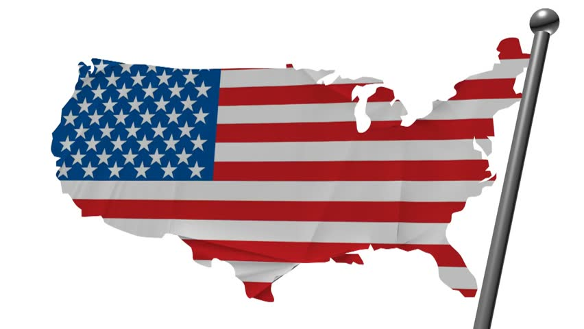 Usa Flag with Country Map, Stock Footage Video (100% Royalty-free ...