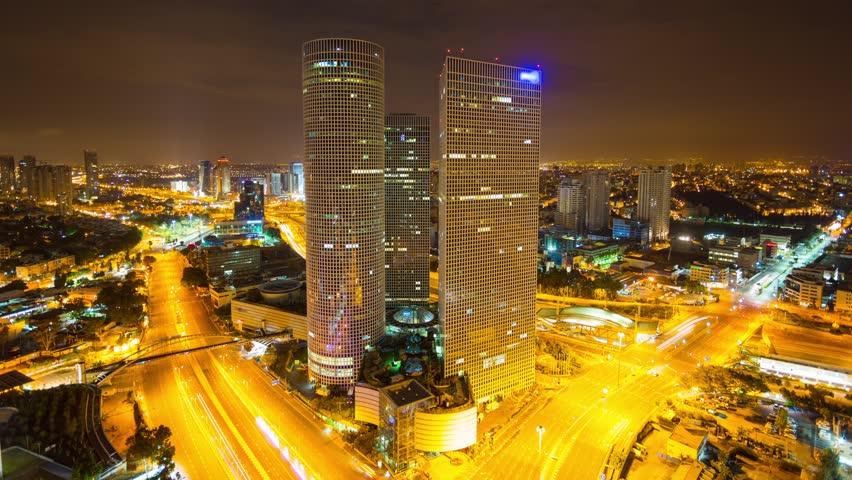 Tel Aviv Hd: Tel Aviv Aerial View Time Lapse Stock