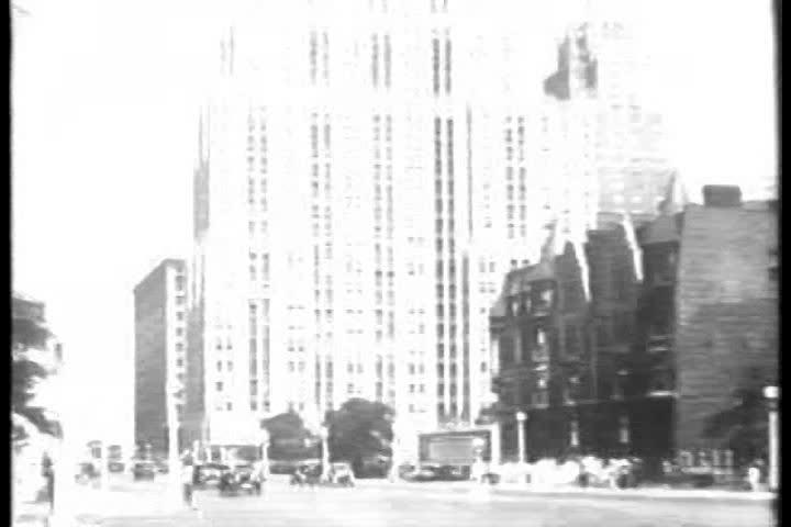 CIRCA 1930, - The building of a skyscraper in 1930 in New York City.