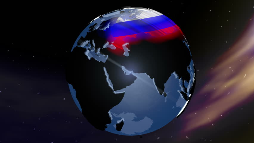 4K Russia Earth Zoom In 3D animation with Matte layers included for full production flexibility