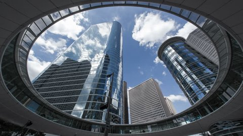 HOUSTON - CIRCA NOVEMBER 2013: Houston, Texas, USA, skyscrapers, low angle