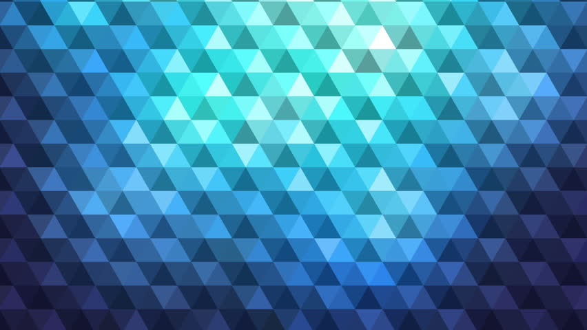 Abstract animation with glittering triangle pattern disappearing in the dark